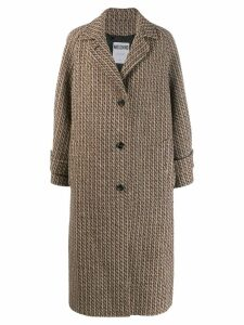 Moschino single-breasted woven coat - Neutrals