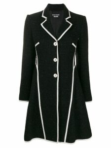 Boutique Moschino textured tweed jacket - Black