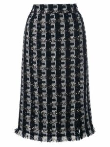 Oscar de la Renta tweed pencil skirt - Black