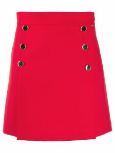Liu Jo button-detail short skirt - Red