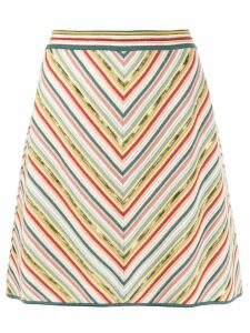 Missoni stripe A-line skirt - Green
