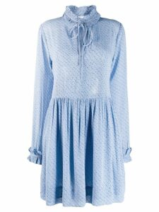 Ganni printed Georgette dress - Blue