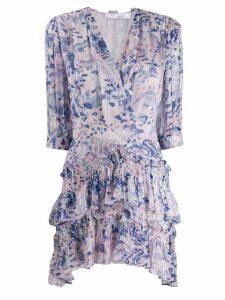 Iro Rahue printed ruffle dress - Purple