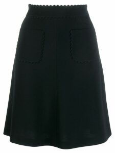 Red Valentino scallop trim skirt - Black