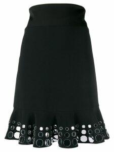 David Koma embellished high-waisted skirt - Black
