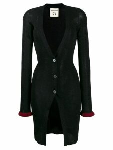 Semicouture fitted plunging neck cardigan - Black