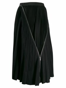 Sacai zip detail pleated skirt - Blue