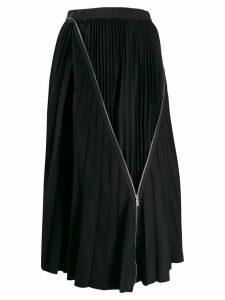 Sacai zip detail pleated skirt - Blue