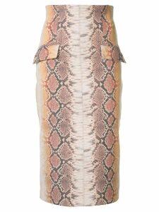 Manning Cartell snakeskin print midi skirt - Multicolour