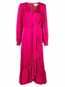 Sachin & Babi long-sleeve ruffle dress - Pink