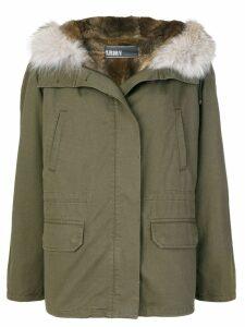 Yves Salomon Army fur-trimmed parka coat - Green