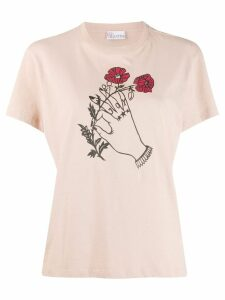 Red Valentino x Poppy's Papercut's graphic print T-shirt - Neutrals