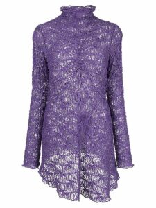Sies Marjan embroidered ruched top - Purple