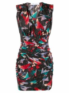 IRO printed V-neck dress - Black
