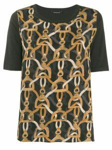 Luisa Cerano chain print T-shirt - Black