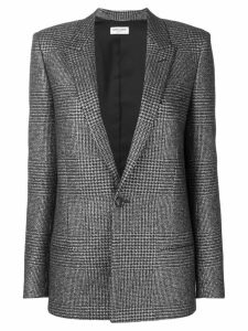 Saint Laurent houndstooth pattern blazer - Black
