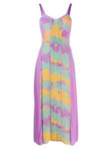 Three Floor Pastel Plisse dress - PURPLE