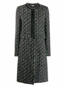 Karl Lagerfeld detachable bottom boucle coat - Black