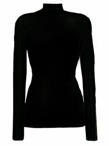 Luisa Cerano side stripe jumper - Black