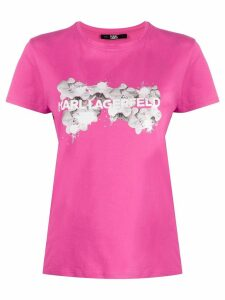 Karl Lagerfeld orchid logo T-Shirt - Pink
