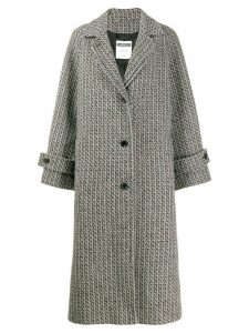Moschino tweed single-breasted coat - Grey