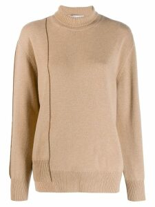 Agnona roll neck sweatshirt - Neutrals