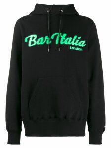 Sacai Bar Italia hoodie - Black