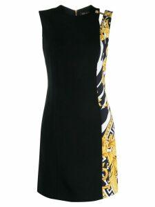Versace barocco print shift dress - Black