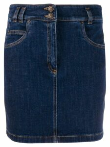 Moschino double button denim skirt - Blue