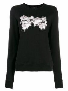 Karl Lagerfeld orchid logo sweater - Black