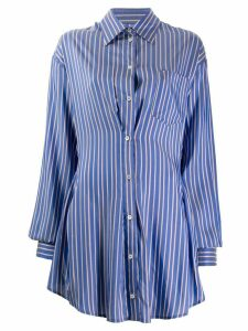 Unravel Project striped shirt dress - Blue
