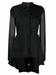 Karl Lagerfeld poplin peplum shirt - Black