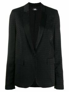 Karl Lagerfeld Karl head jacquard blazer - Black