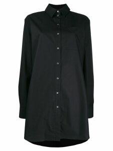 Karl Lagerfeld embellished logo shirt - Black