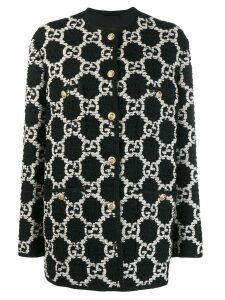 Gucci Oversize GG Sylvie tweed jacket - Black