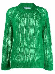 Prada open-knit jumper - Green