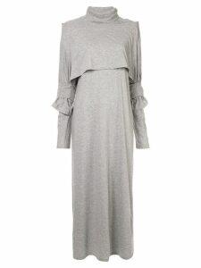 Mm6 Maison Margiela roll neck jersey maxi dress - Grey