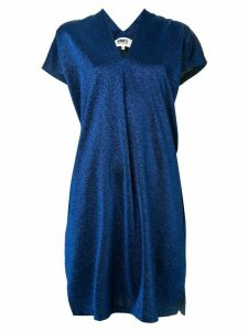 Mm6 Maison Margiela lurex shift dress - Blue