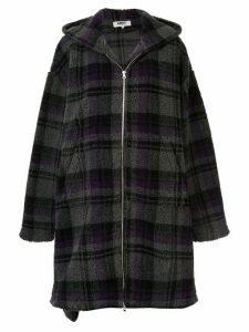 Mm6 Maison Margiela blanket oversized coat - Grey