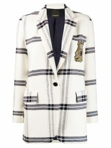 Pinko check print blazer - White
