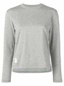 Thom Browne Slide Slits Long Sleeve Tee - Grey