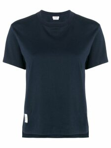 Thom Browne Slide Slits Relaxed Navy Tee - Blue