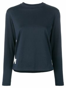 Thom Browne Long Sleeve Relaxed Fit Jersey Tee - Blue