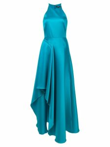 Badgley Mischka delicate ruffle gown - Blue
