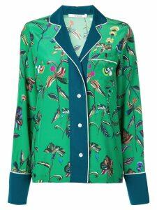 Derek Lam 10 Crosby Botanical Print Pajama Shirt - Green