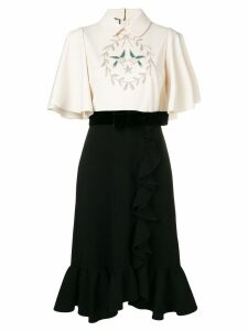 Gucci embroidered birds dress - Black