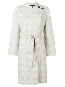 Giorgio Armani belted wrap coat - Neutrals
