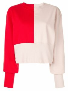 Vaara Maeve bi-colour sweatshirt - Red