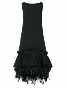 Huishan Zhang gathered peplum shift dress - Black