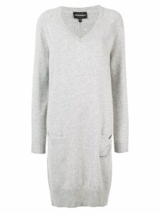 Emporio Armani long knitted dress - Grey